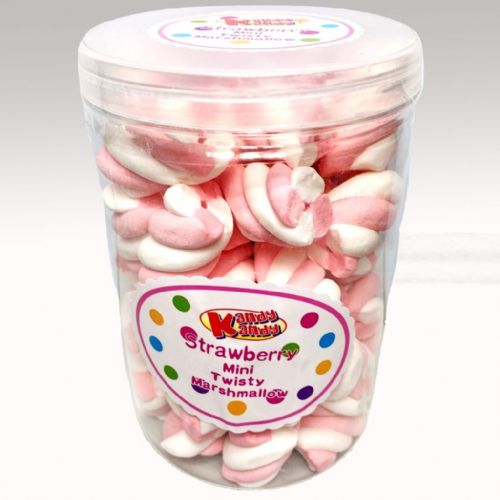 STRAWBERRY MINI TWISTY MARSHMALLOW 150g